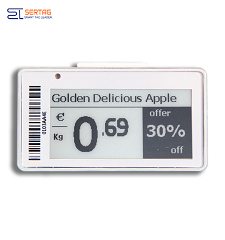 2.13inch  digital price tag E-ink Electronic Shelf Label with black and white