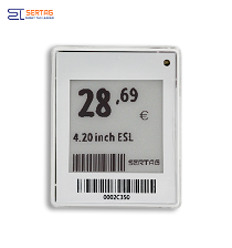 1.54 inch  digital price tag E-ink Electronic Shelf Label with black and  white