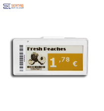 2.9 inch  digital price tag E-ink Electronic Shelf Label with black white and yellow