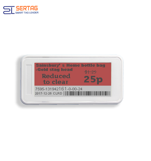 2.9 inch  tricolors   digital price tag E-ink Electronic Shelf Label smart retail labels