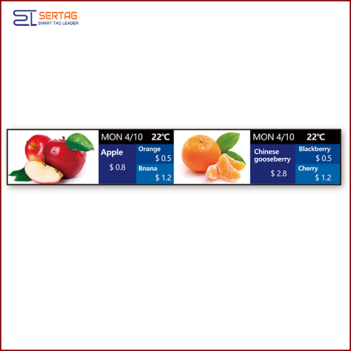 37inch Digital Signage Stretched LCD Bar Display Shelf Edge LCD Display for Supermarket Advertising