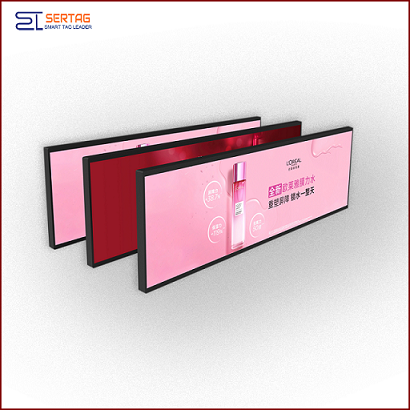 35inch Digital Signage Stretched LCD Bar Display Shelf Edge LCD Display for Supermarket Advertising