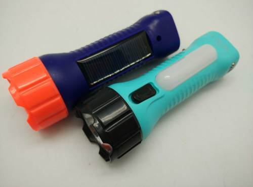 BN-8817A Emergency Camping Lighting Solar USB Rechargeable LED Flashlight Torch