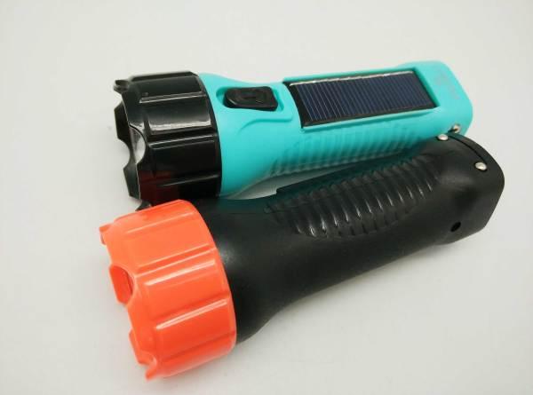BN-8817B Small Size Camping Lighting Electric Solar LED Flashlight Torch