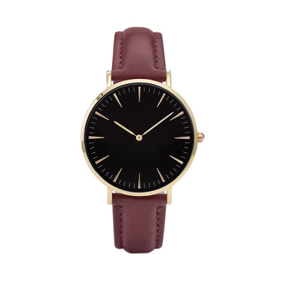 Promotinal Cheap Leather Alloy Watch Custom Your LOGO