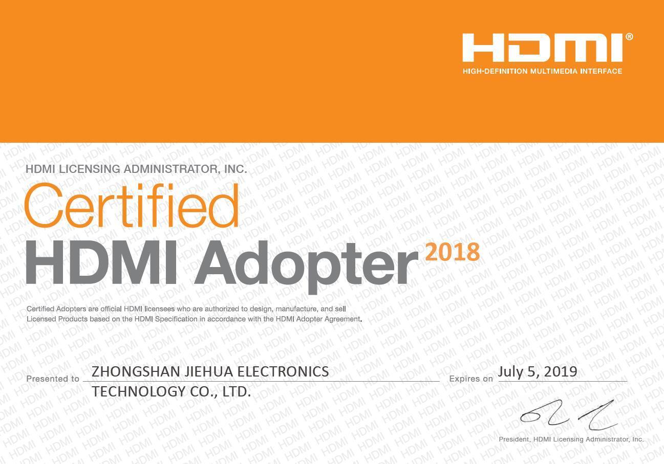 認定HDMIアダプター