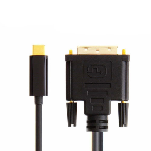USB C To DVI Cable,USB 3.1 Type C to DVI 6FT Black Cable