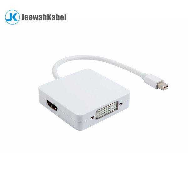 Male mini DP 1.4 displayport to female HDMI DVI VGA Adapter cable for laptop