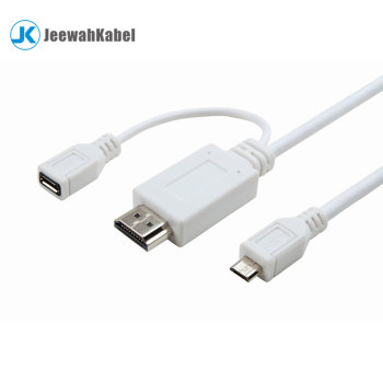 Male Micro USB to male Hdmi Adapter Converter Cable 1080p HDTV
