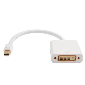 Mini Displayport to DVI Adapter Converter Mini Displayport  To DVI Male to Female 1080P Cable Adapter
