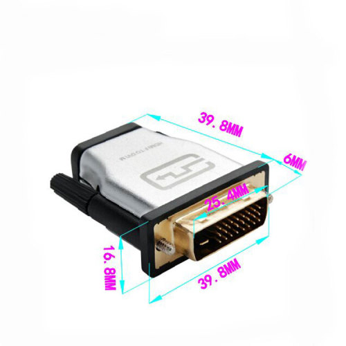Gold-Plated HDMI female to DVI 24+1 male adapter Male to Female Converter