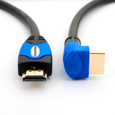 High speed 90 Degree  male to male HDMI support 3D 4K Ultra HD HDMI Cable