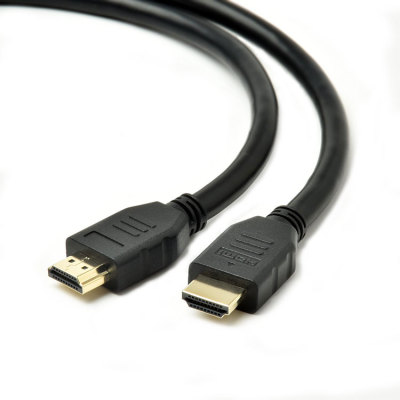 Basic Black HDMI Cable male to male with Ethernet Supports 1080P 3D and Audio Rerure Channel