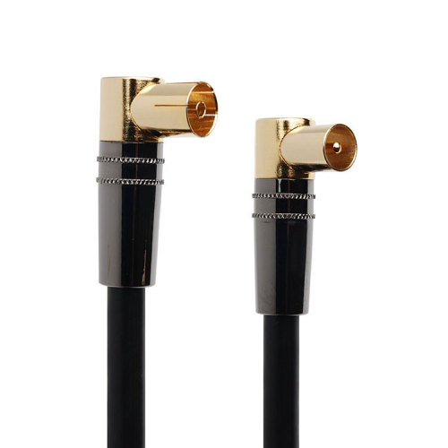 90 Degree Female Shell male to female assembly jumper rg6 sma coaxial cable