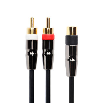 Gold plated 3.5mm  Female Mini Jack to 2 Male RCA Plug Adapter Audio Y Cable