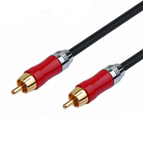 Colorful Metal Shell RCA Phono Male to Female Audio Extension Lead Cable
