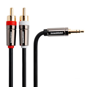 Gold Plated 3.5 To 2RCA Audio Video cable