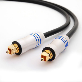 24K Gold-Plated Ultra-Durable  Fiber Optic Male to Male Cord