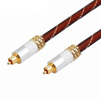 Hot Selling Toslink To Toslink Audio Optical Metal Braid Cable