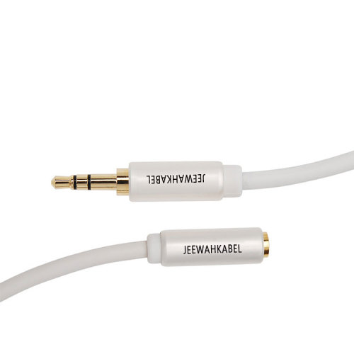 High Quality Silvery 3.5mm Stereo Jack Aux Audio Cable M-M M-F For Car Headphone