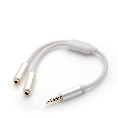 3.5mm 2 Female to 1 Male Headphone Audio Extension Y Splitter Cable