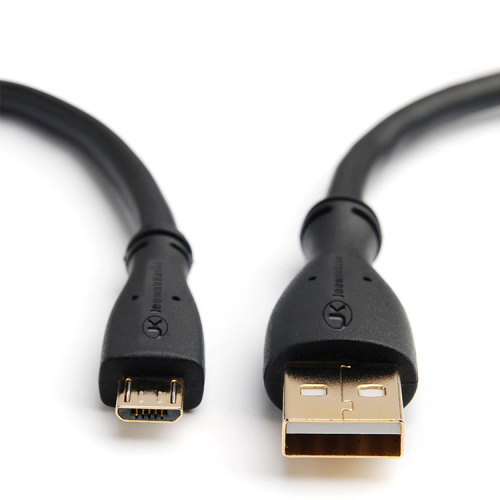 Black PVC Model  Android Mobile Phone Micro Usb Data Cable for s4