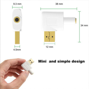 Stereo Audio Sound Cable with 2.5mm Speaker/Headphone and Microphone Jacks