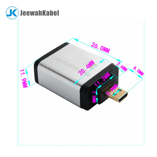 Vision high speed 4K*2K Micro hdmi male to female audio adapter 1080p
