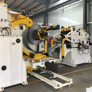 Metal Sheet Stamping Die Punch Decoiler Straightener Feeder Automatic Unwinding Equipment