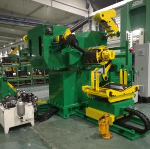 Servo feeder straightener cum decoiler machine for metal stamping