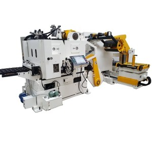 Compact Servo Feeder 3 in 1 Machine GLK5 decoiler straightener feeding for (9mm) thickness
