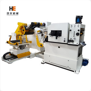 600mm width Servo coil feeder machine process 3in1 for press punch