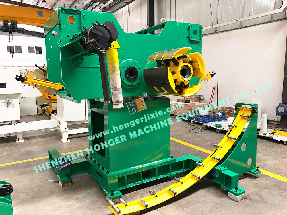 double decoiler straightener feeder 3 in 1 machine