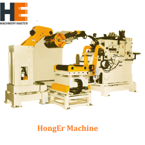 high precision high strength compact feeding line GLK5 (9mm) thickness coil handling machine