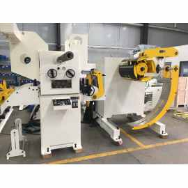 HongEr 2 in 1 Uncoiler Straightener And NC Servo Feeder Equipped With Press Machine In UAE