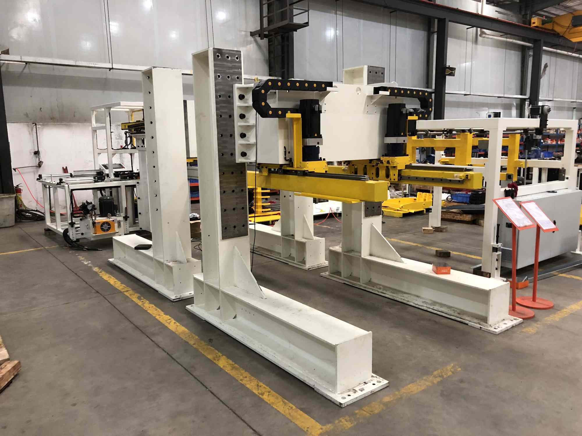 transfer arm compacted press machine for metal steel plate