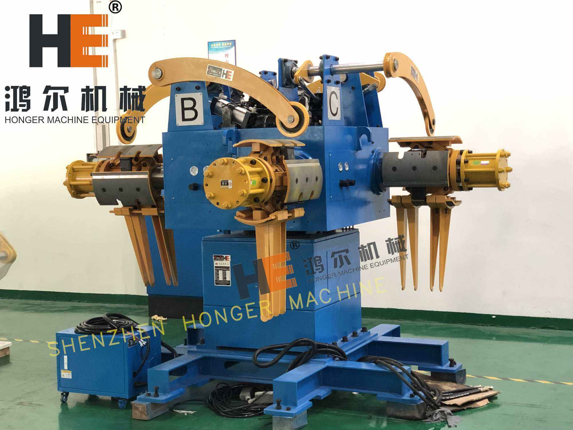 four heads decoiler machine for metal coils