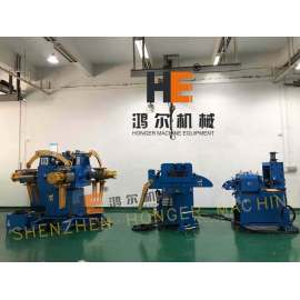 Four Heads Decoiler Straightener Feeder With Shearing For Metal Blanking Will Be Delivered To Aokland USA