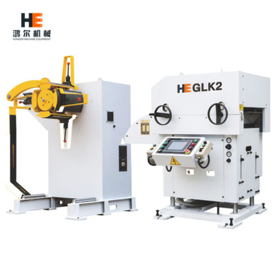 GLK2 3 in 1 Turnkey Integration System Combined Metal Coil Decoiler Straightener Feeder for press