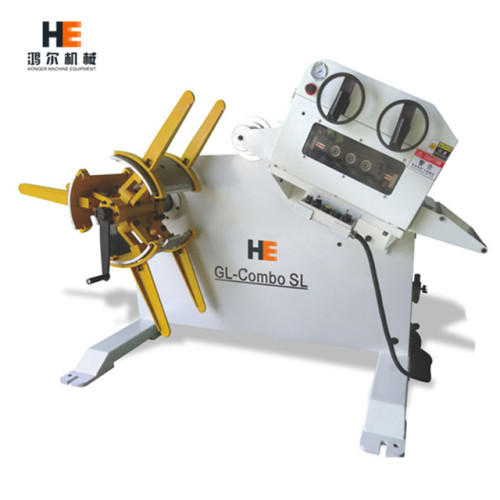 GL-300 automatic uncoiler straightener 2 in 1 combined machine for stamping line