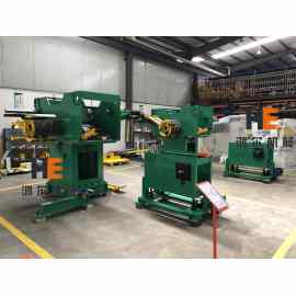 2 Sets Of GLK-400D Double Head Decoiler Straightener Feeder Machine Assembly