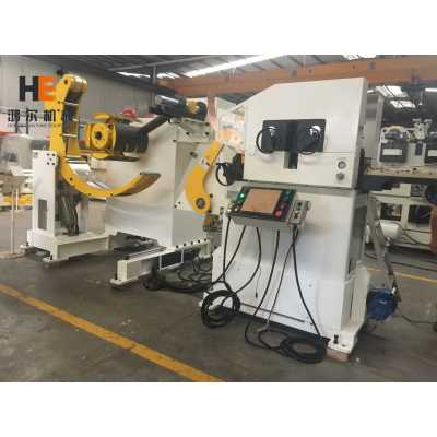 GLK4-400 Coil Feeder Machine With Uncoiling Leveling Feeding For Stainless Steel Coil Sheet Punching