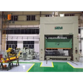 GLK4-1000H High Tensile Strength Metal Coil Handling Solution Servo Feeding Compacted SEYI Press