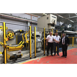 Automotive Stamping Line Building: 3 In 1 Coil Feeder Compacted Press Machine For Auto Parts