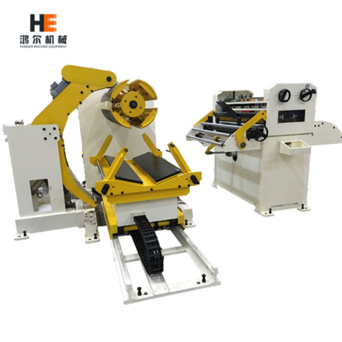 GL-500H decoiler and straightener combo machine for thick metal strip feeding