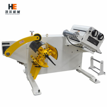 GL-600 2 in 1 Decoiler Straightener Combo working with feeder for metal stamping line