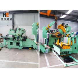 GLK4-1600H Strong Decoiler Straightener Feeder With 10Ton Capacity For High Strength Metal Coils