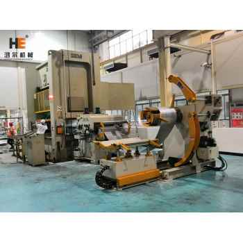 GLK2-1000 Combo Servo Coil Feeder Compact Seyi Press For Gree Air Conditional Shell Blanking