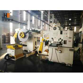 GLK4-600H High Strength Metal Coil Handling Machine For Decoiling Straightening Feeding With Press