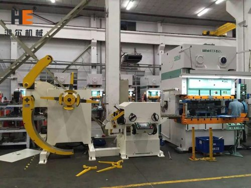 GLK2 Unit Decoiler Straightener Feeder Machine With Press For Electrical Components Stamping Line